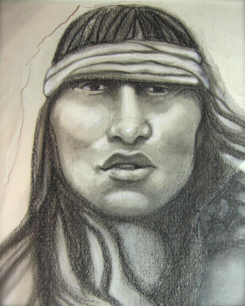 """Apache Youth"" original fine art by Karen Roncari"