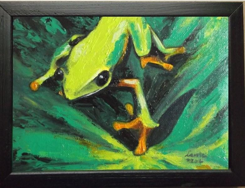 """Tree Frog"" original fine art by Camille Morgan"