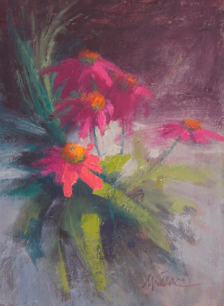 """#121 Echinacea"" original fine art by Nancy Wallace"