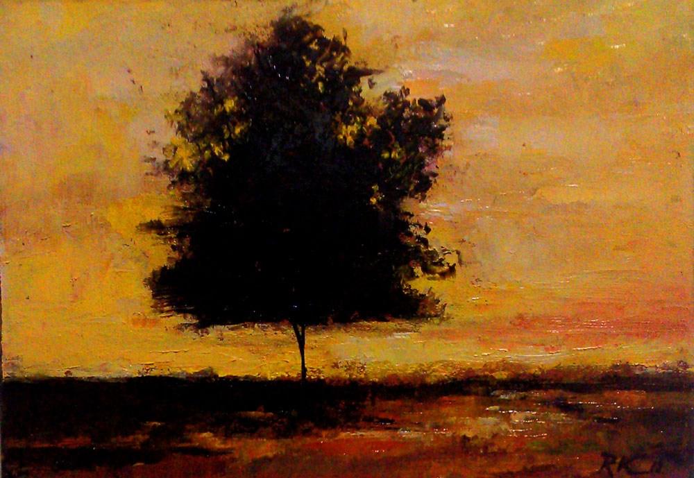 """Sunset Silhouette"" original fine art by Bob Kimball"