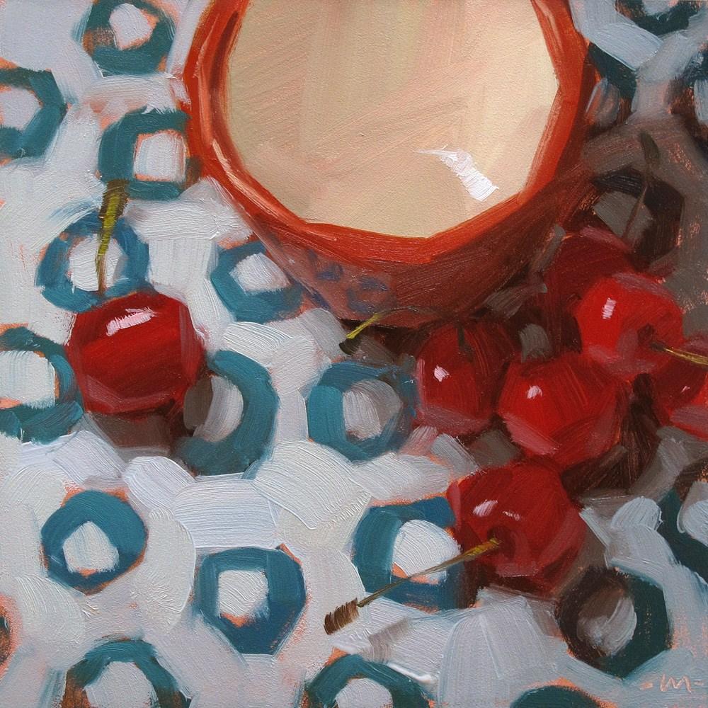 """Cherry-o's"" original fine art by Carol Marine"