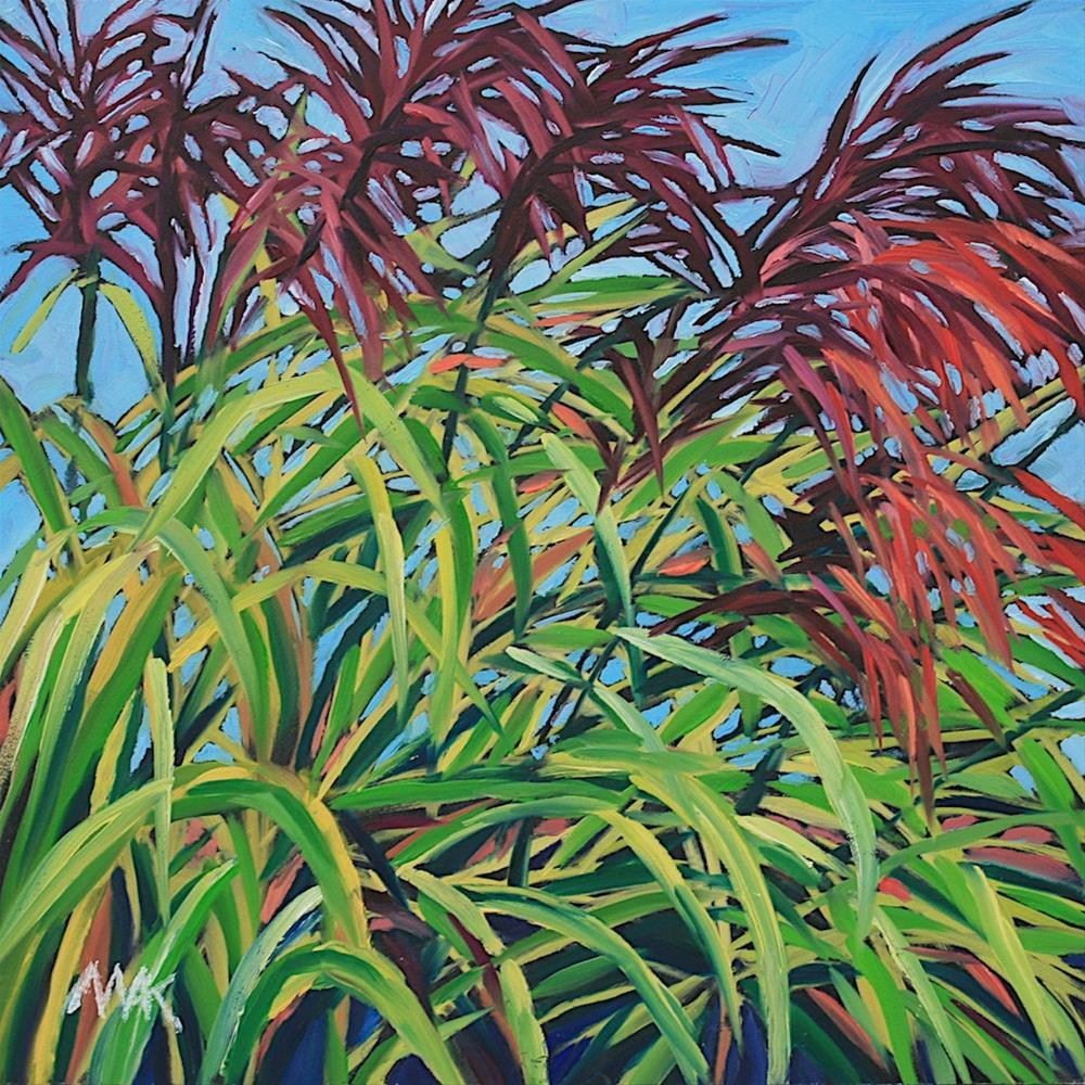 """More Garden Grass 2"" original fine art by Mary Anne Cary"