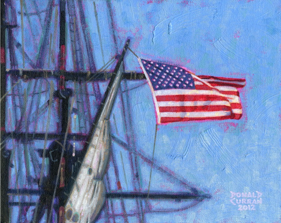 """Old Glory"" original fine art by Donald Curran"