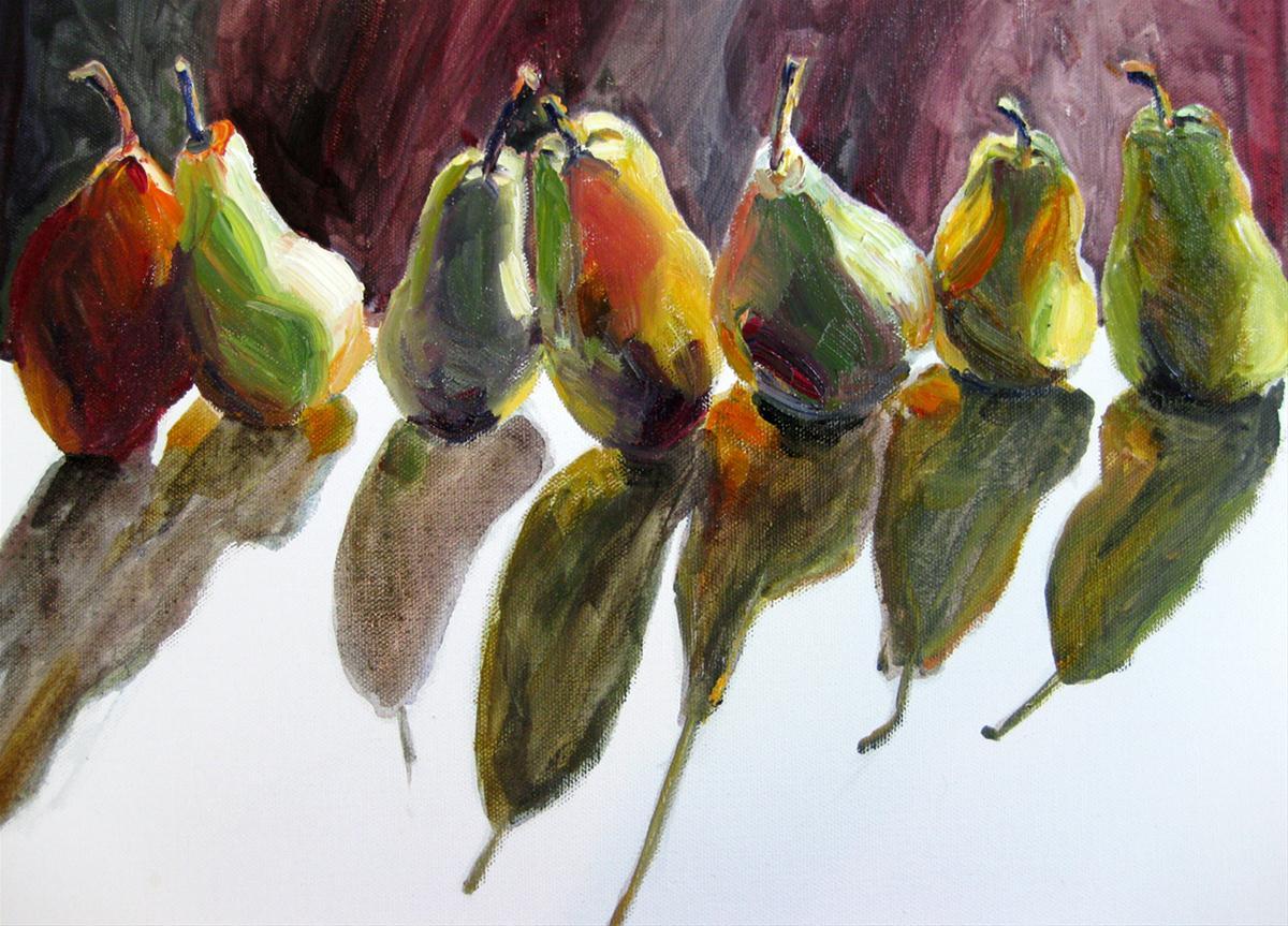 """""""Autumn Pears"""" original fine art by Julia Lu"""