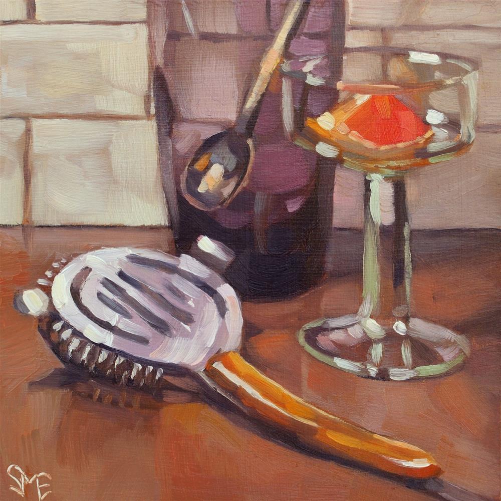 """""""Stirred, Not Shaken"""" original fine art by Sheila Evans"""