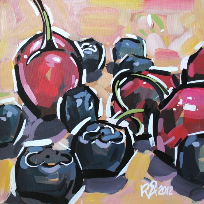 """Healthy snacks 4"" original fine art by Roger Akesson"