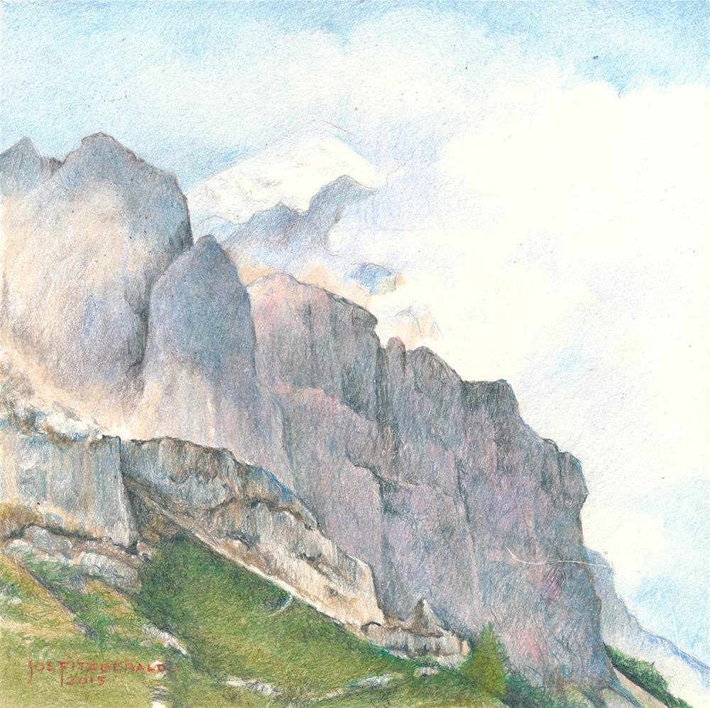 """In The Dolomites"" original fine art by Joe Fitzgerald"