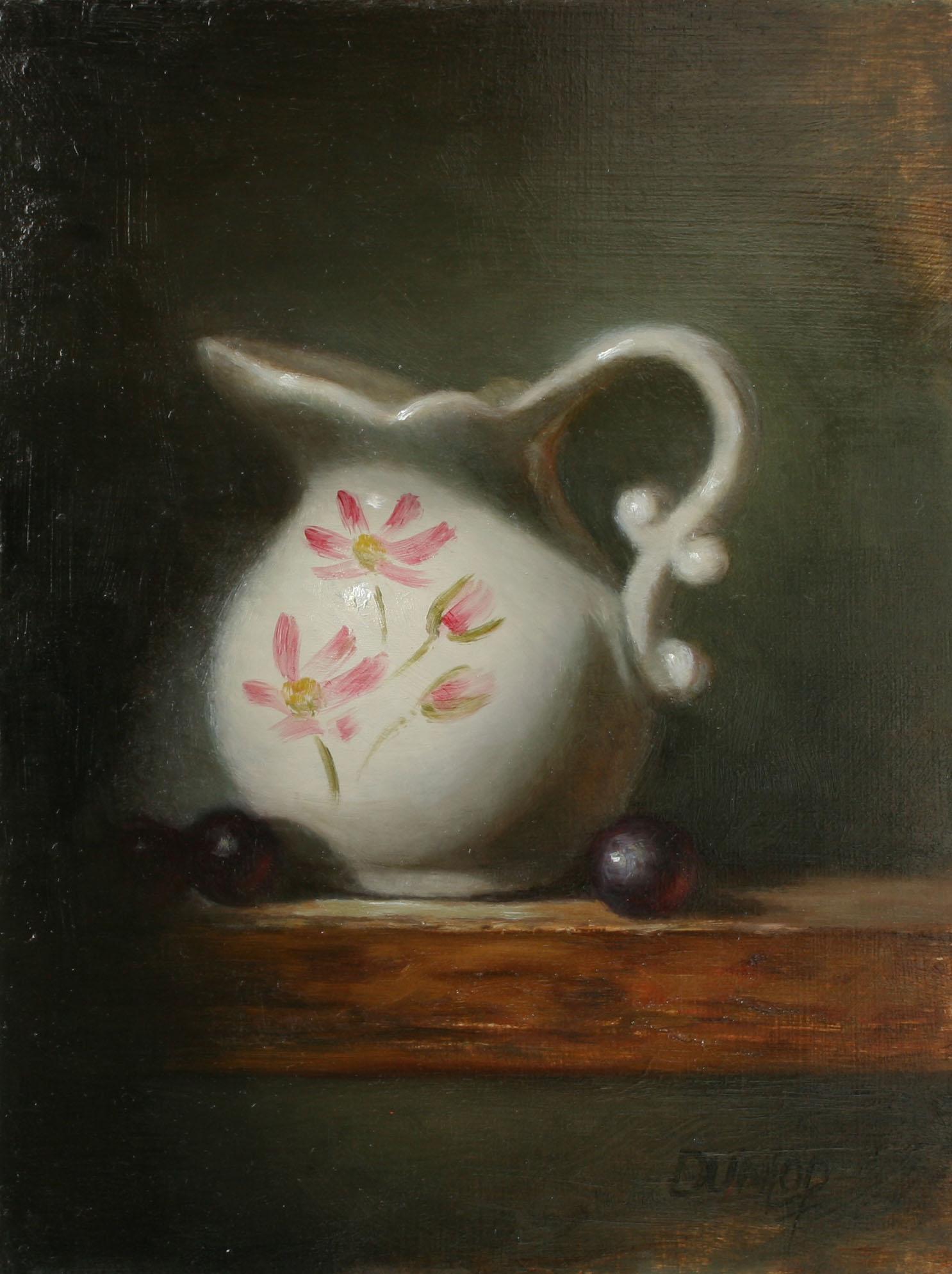 """""""Creamer with Grapes"""" original fine art by Bobbi Dunlop"""