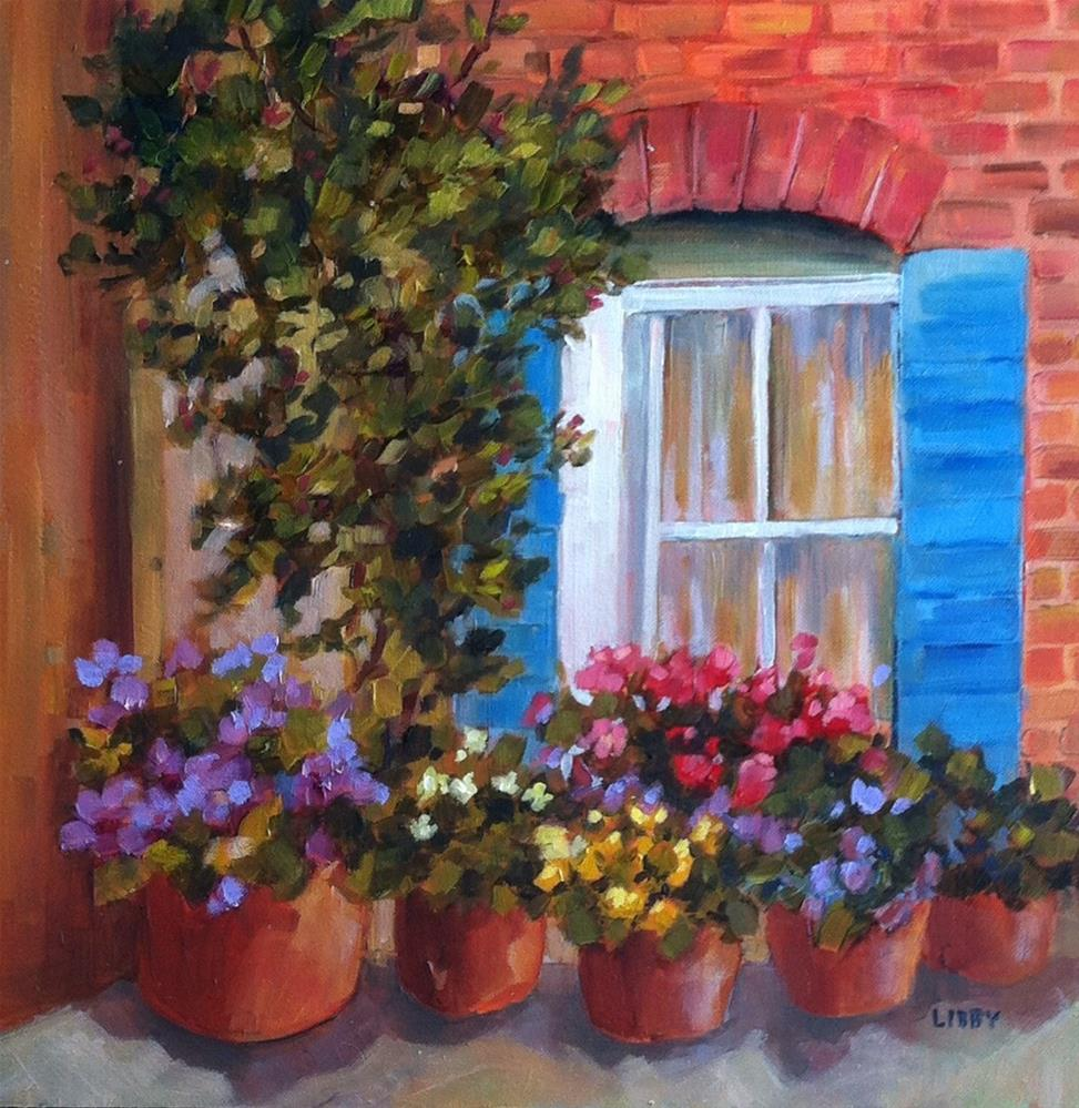 """Brick Corner"" original fine art by Libby Anderson"