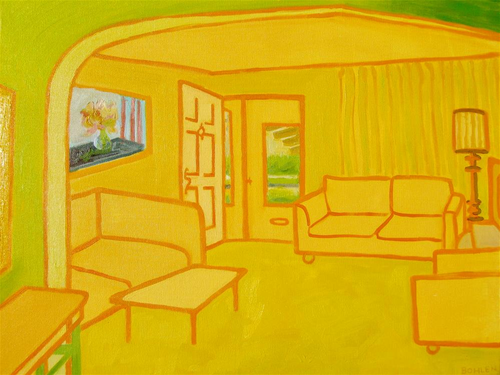 """Sunroom"" original fine art by Priscilla Bohlen"