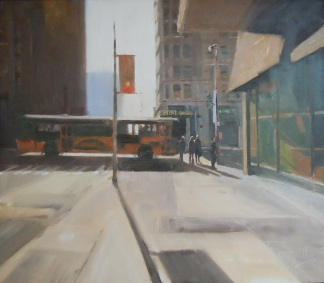 """Capital Grill  Seattle city oil painting by Robin Weiss"" original fine art by Robin Weiss"