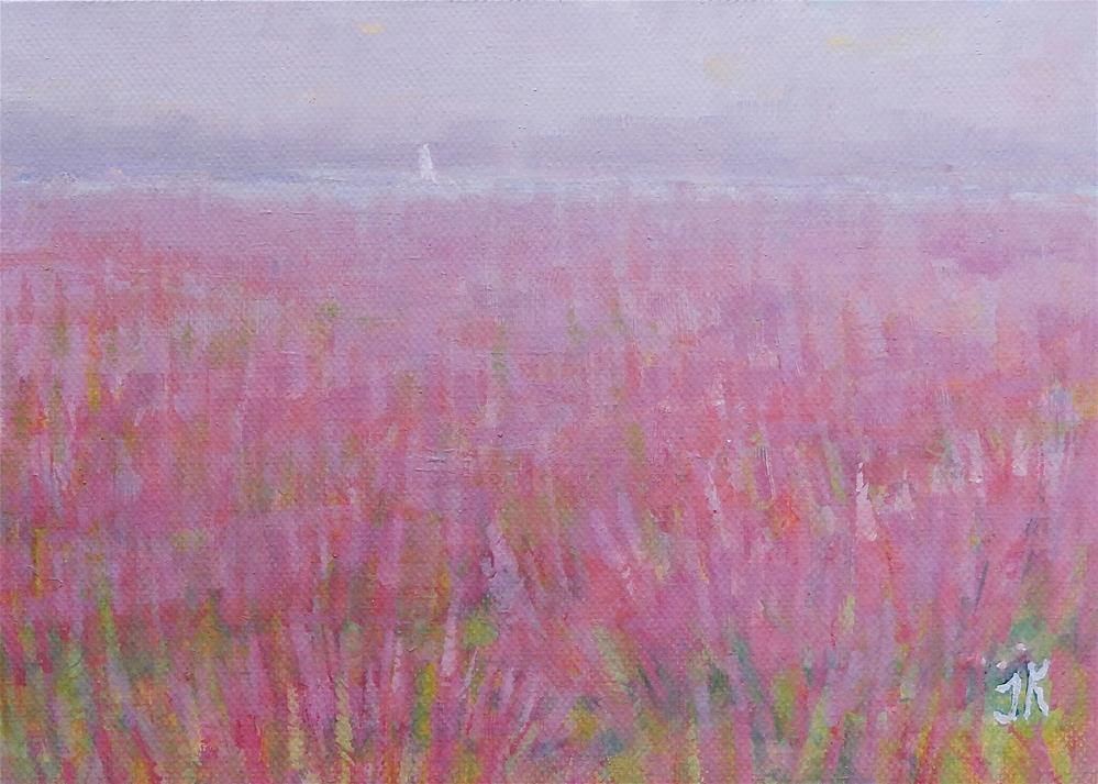 """Marsh in August"" original fine art by J Kelsey"