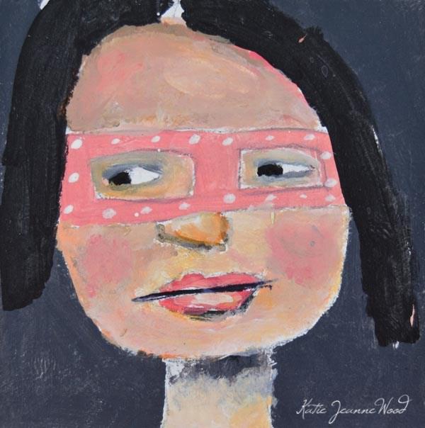 """""""Masquerade Mask No 20"""" original fine art by Katie Jeanne Wood"""