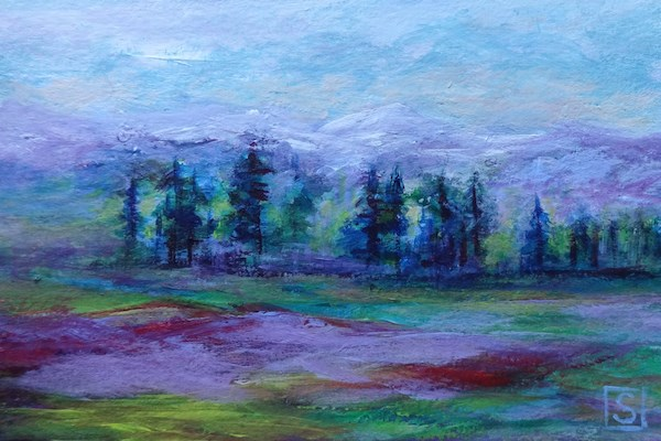 """4043 - Mounted - Tree Line - OSWOA - Block Mounted"" original fine art by Sea Dean"