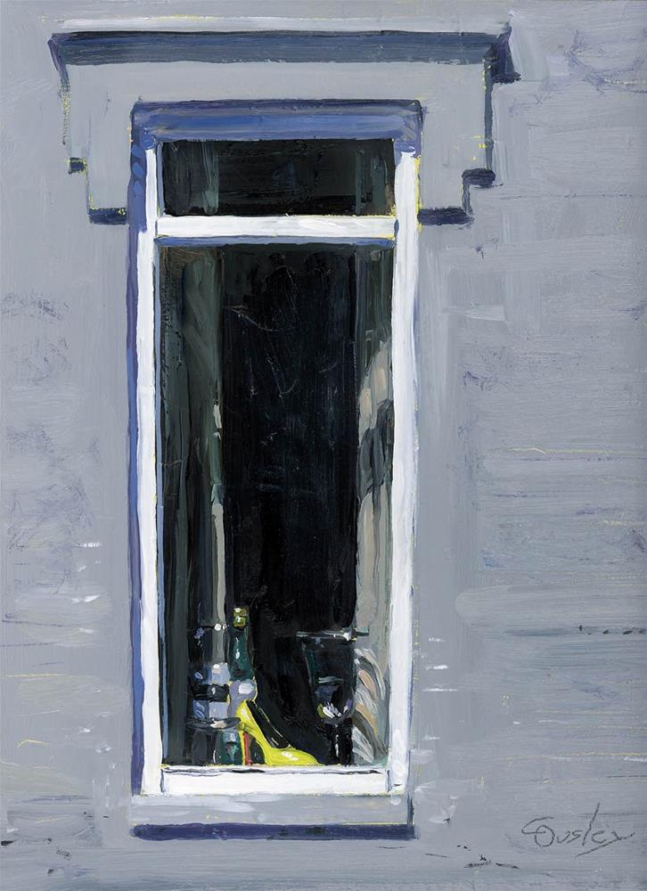 """Shades of Grey Window Display"" original fine art by Chris Ousley"