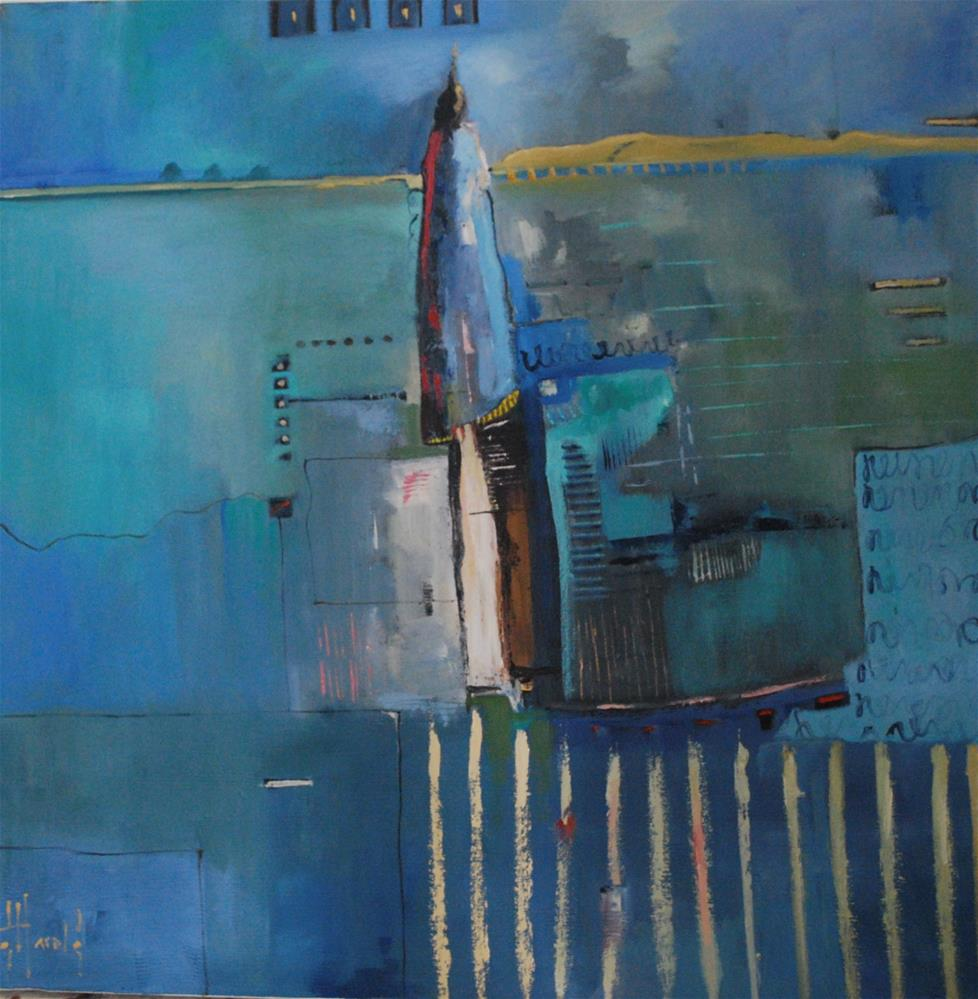 """Blue On Blue"" original fine art by Deborah Harold"