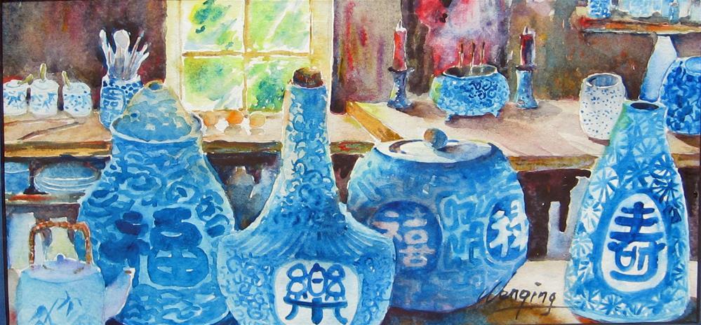"""""""Luck china-b"""" original fine art by Wenqing Xu"""