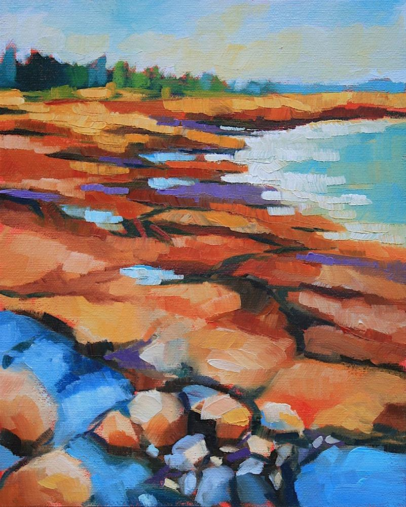 """Acadia Coast"" original fine art by Mary Anne Cary"