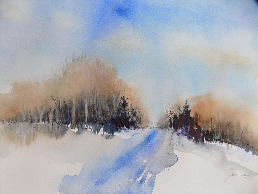 """Winter Road #2"" original fine art by Joan Reive"
