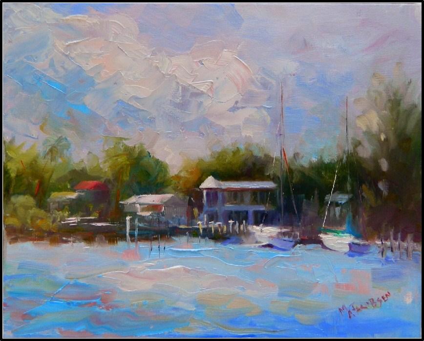 """Crow's Nest View, 8x10, oil on linen, plein air, Maryanne Jacobsen, Venice Beach, north Jetty, The"" original fine art by Maryanne Jacobsen"