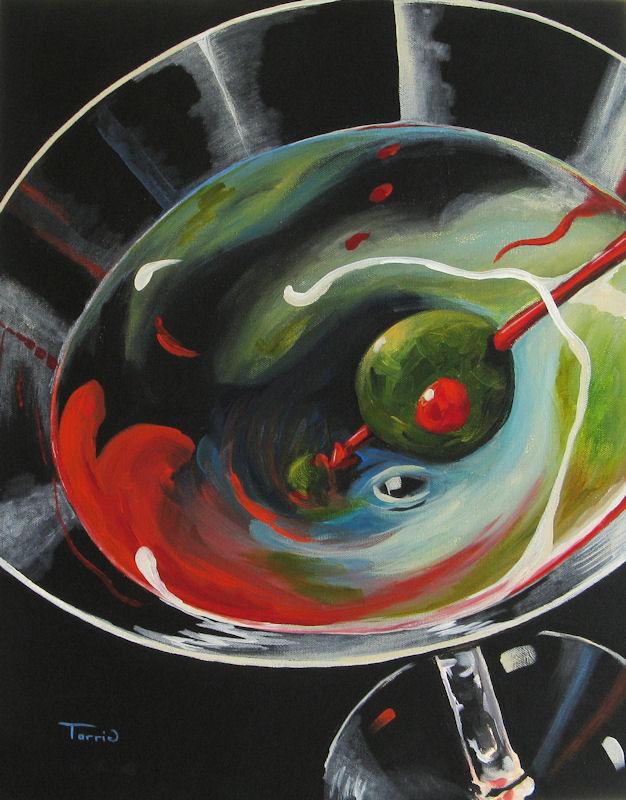 """Martini, Stirred X"" original fine art by Torrie Smiley"