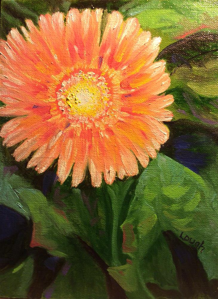 """Gerber Daisy"" original fine art by Charlotte Lough"