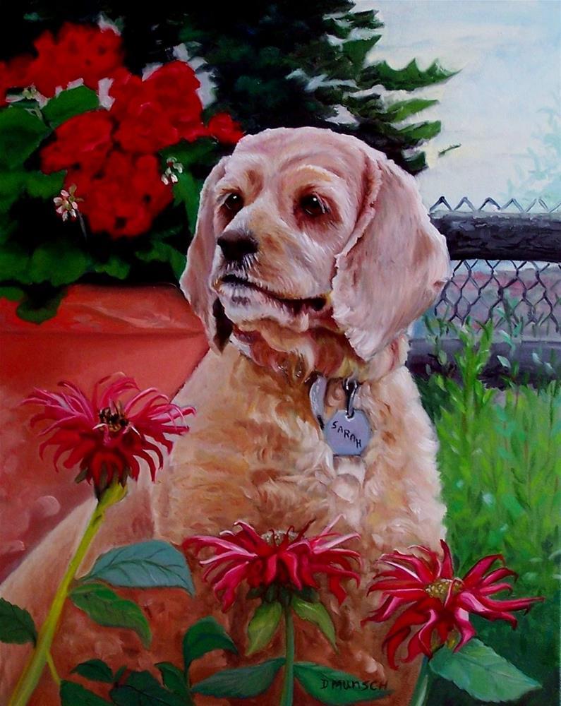 """Sarah the Cocker Spaniel"" original fine art by Donna Munsch"