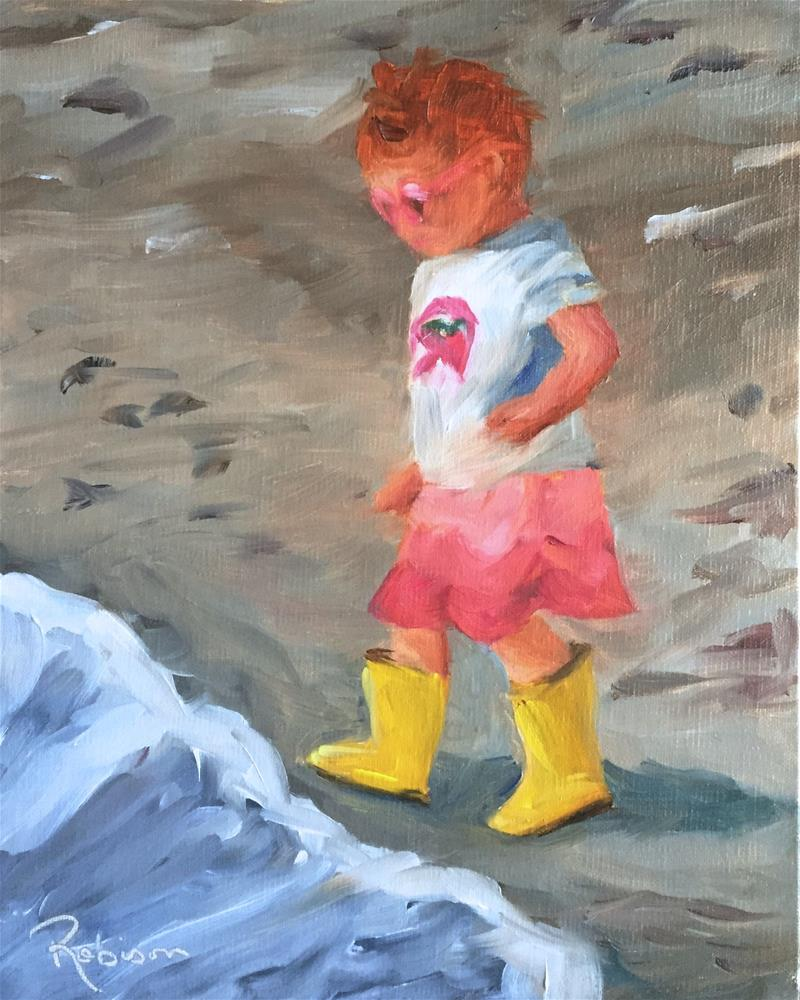 """No Sand in My Toes"" original fine art by Renee Robison"