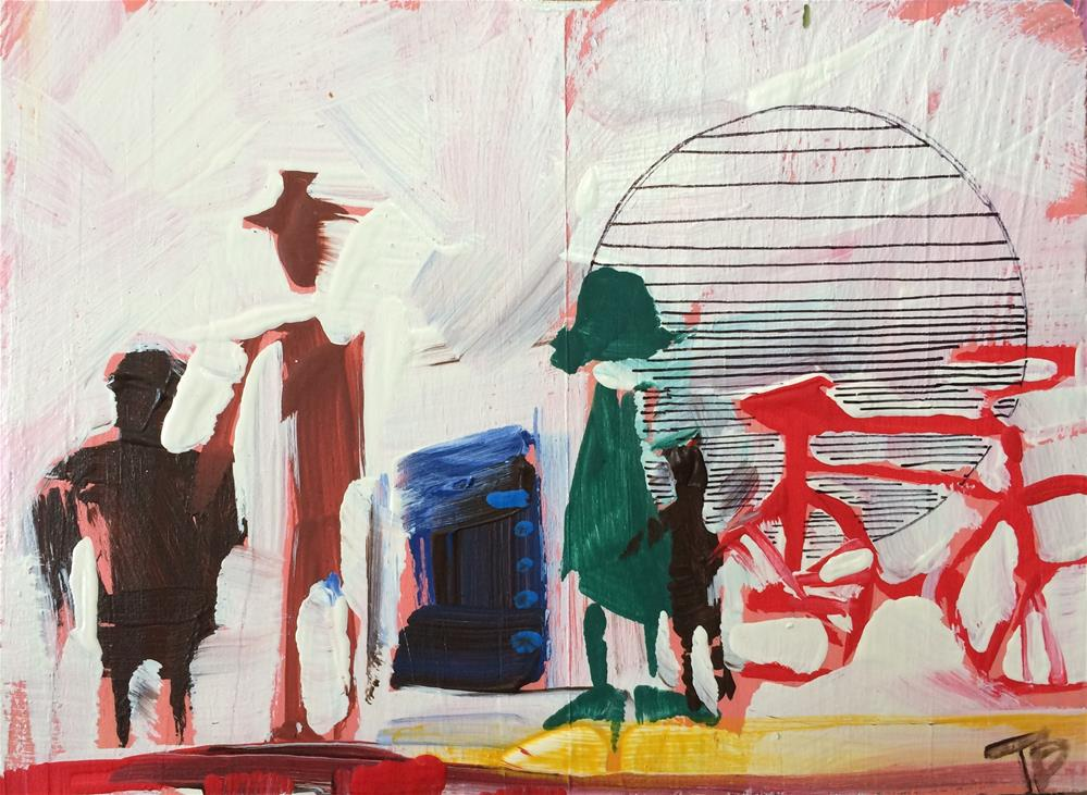 """Bike Gang"" original fine art by Teddi Parker"