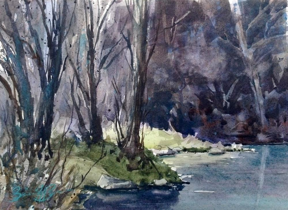 """Kish Creek"" original fine art by Brienne M Brown"