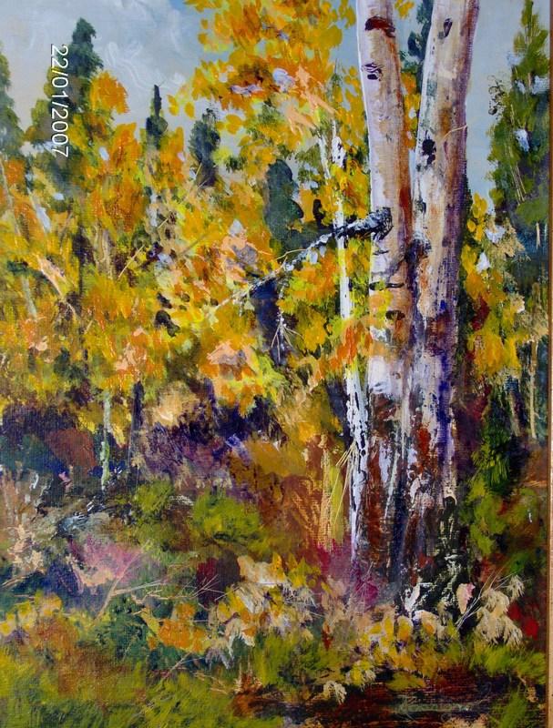 """Aspens In Greensprings"" original fine art by Norm Rossignol"