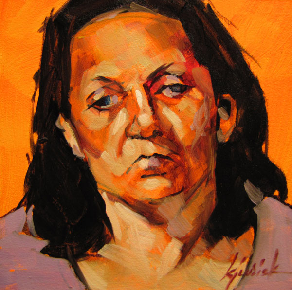 """100 Faces, No. 82"" original fine art by Karin Jurick"