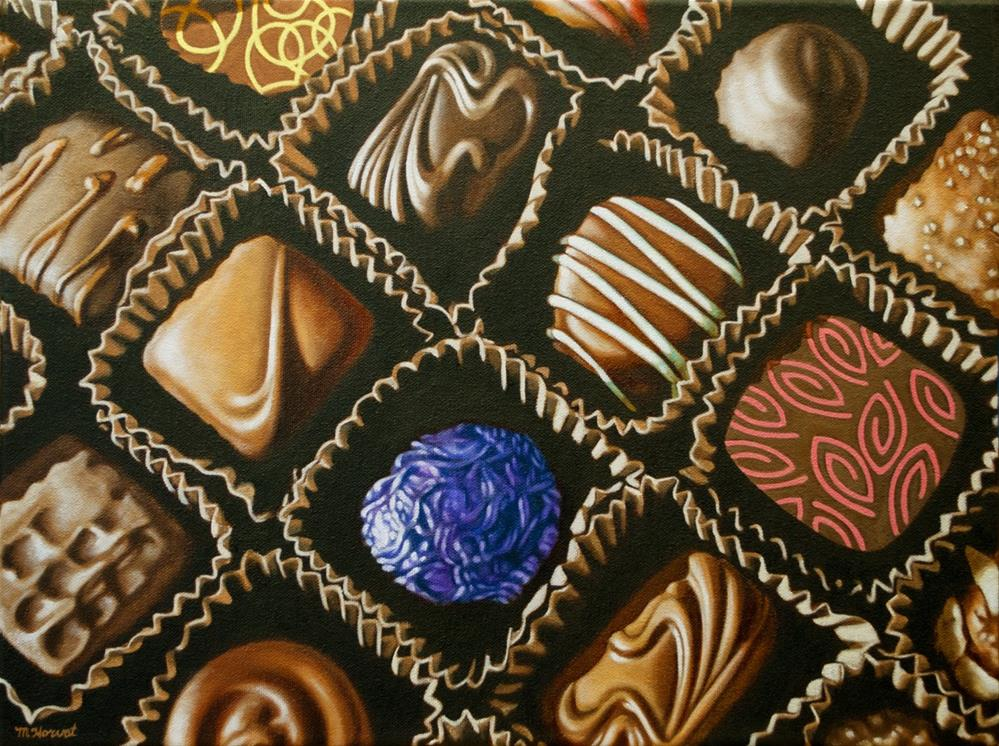 """Big Box o'Chocolates"" original fine art by Margaret Horvat"