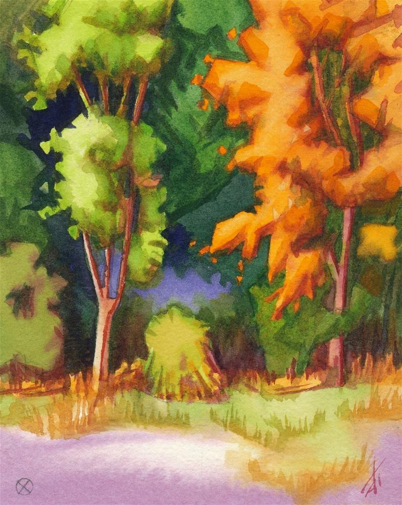 """September, Green & Orange"" original fine art by Mark Allison"