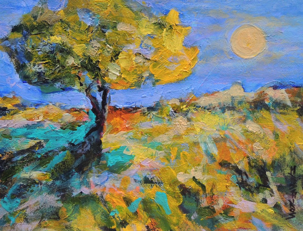 """Summer Sun"" original fine art by Mary Schiros"
