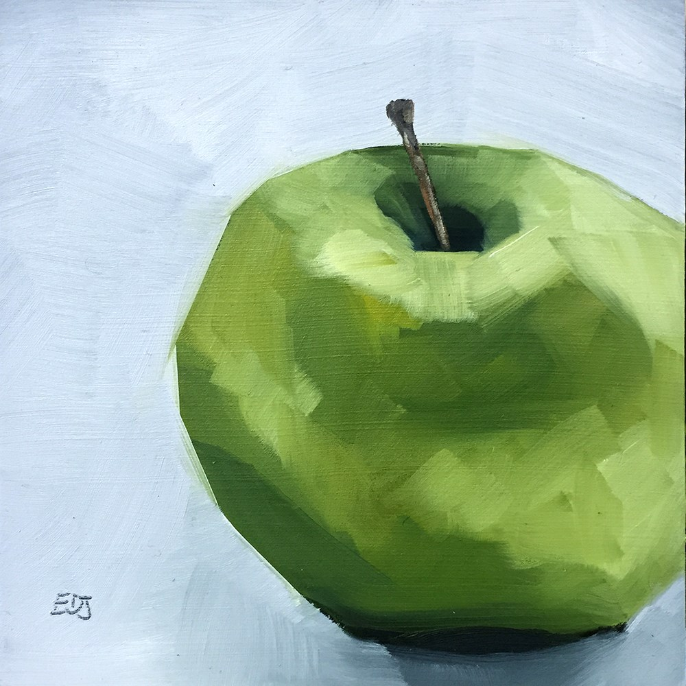 """Simple Apple"" original fine art by Elizabeth Dawn Johnston"