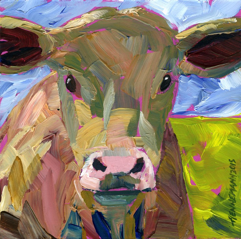 """Cow No. 1-2"" original fine art by Eileen Hennemann"
