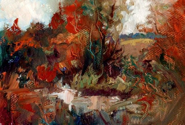 """""""Hidden Stream"""" original fine art by Anne Wood"""