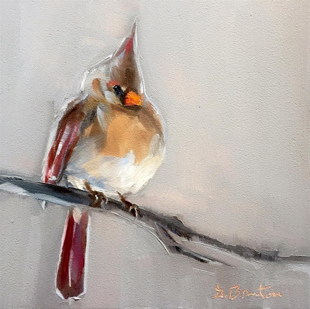 """""""Mrs. Cardinal"""" original fine art by Gary Bruton"""