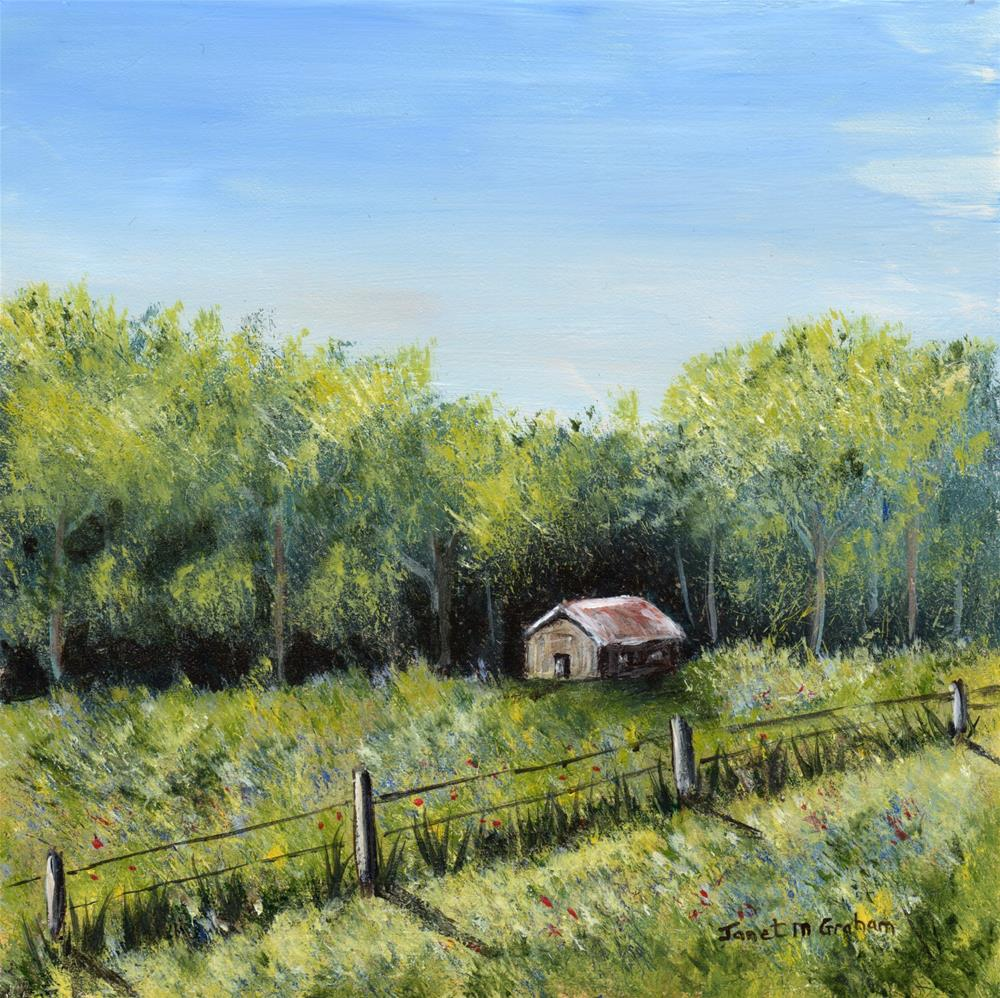 """Spring Cabin"" original fine art by Janet Graham"