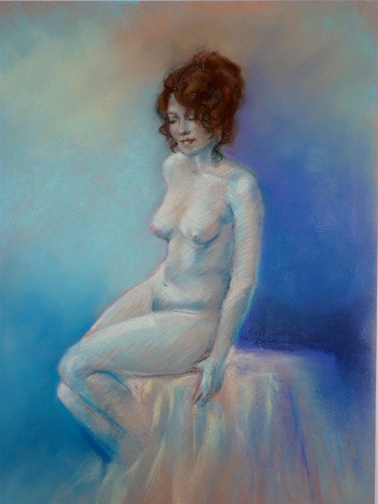 """Blue Mood"" original fine art by Helene Adamson"