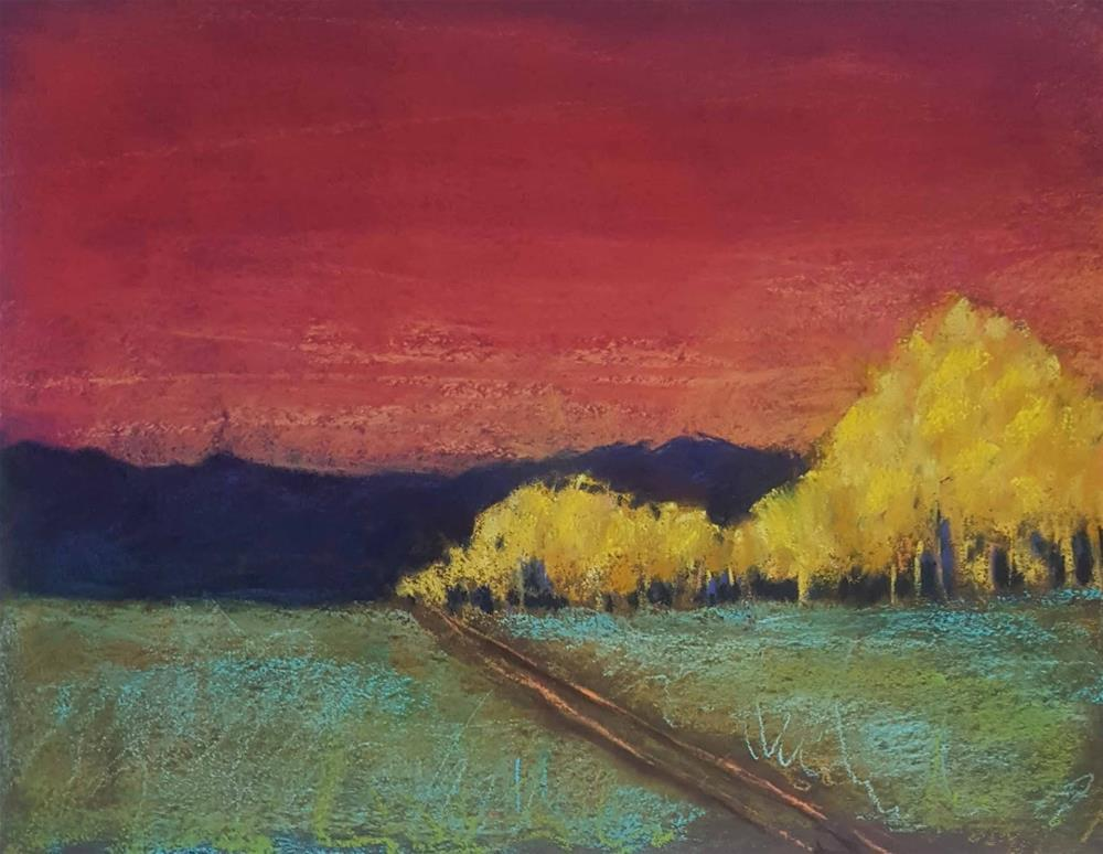 """Marathon Sunset"" original fine art by Anna Lisa Leal"