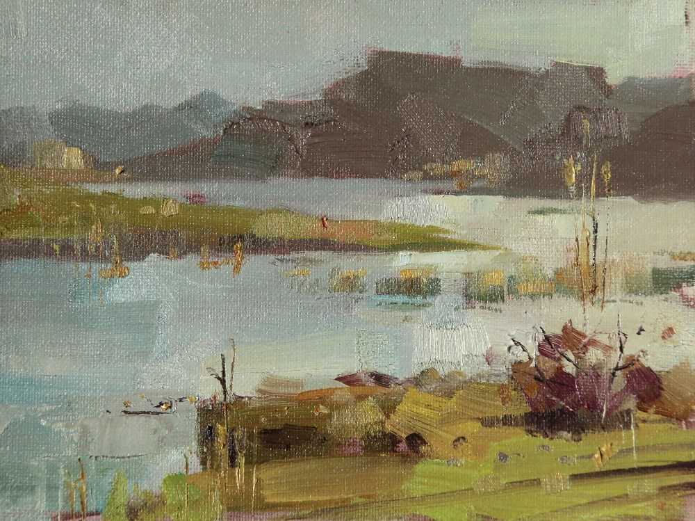 """Cypress Creek Park"" original fine art by Qiang Huang"