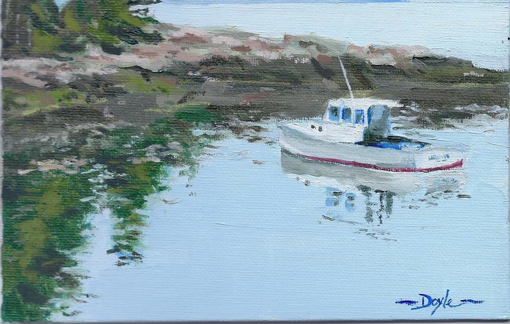 """Maine Cove"" original fine art by Richard Doyle"