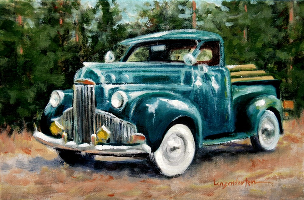 """READY TO ROLL"" original fine art by Dj Lanzendorfer"