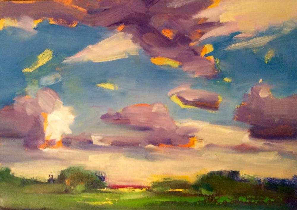 """ SKY WAY "" original fine art by Doug Carter"