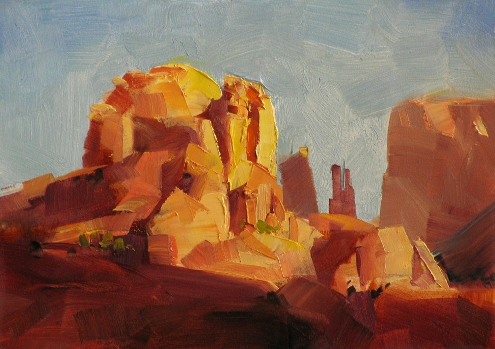 """Cathedral Rock"" original fine art by Qiang Huang"