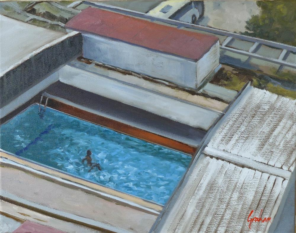 """Pool."" original fine art by Graham Townsend"