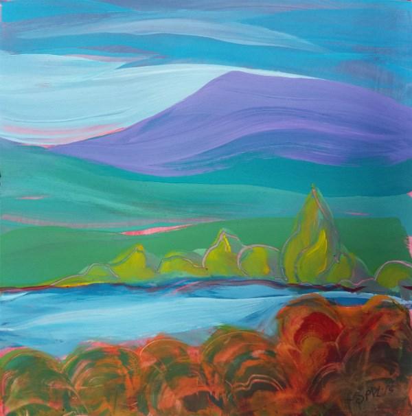 """Valley Morning 27"" original fine art by Pam Van Londen"
