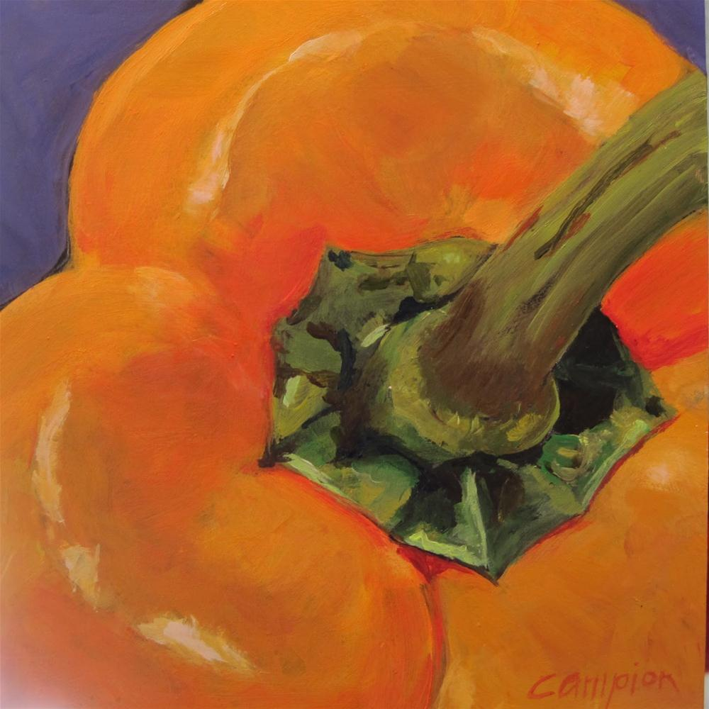 """3rd of 4: Yellow Bell Pepper"" original fine art by Diane Campion"
